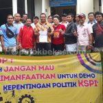 FSPMI Bekasi Lapor Polres soal Spanduk Provokatif di Perempatan EJIP 1