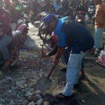 Karang Taruna Tambal Kerusakan di Jalan Irigasi Pejuang, Pemerintah Kapan 1