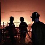 Pabrik karpet di Cikopo Purwakarta terbakar (ist)