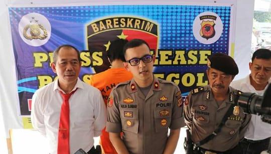 Polsek Regol ungkap kasus pencurian sepatu, Mapolsek Regol, Senin (20/1/2020)./Foto: Arief