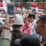 Presiden Jokowi berada di Kota Cimahi, Rabu (ist)