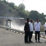 Presiden Jokowi meresmikan Terowongan Nanjung di Jawa Barat (arf)