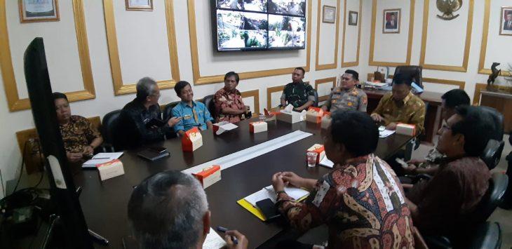 Polres Cirebon Kota bersama Pemkot Cirebon saat rapat koordinasi. Ist