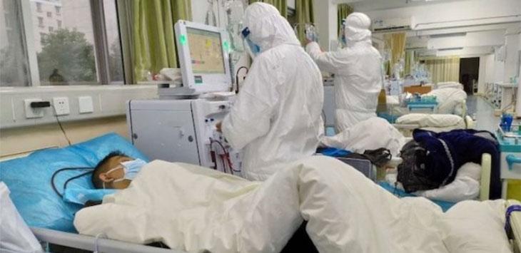 Ilustrasi penanganan suspek virus corona. (ist)