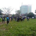Wakil Walikota Bogor Dedie Rachim ketika meninjau Alun alun Empang (adi)