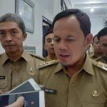 Walikota Bogor Bima Arya saat diwawancarai wartawan (adi)
