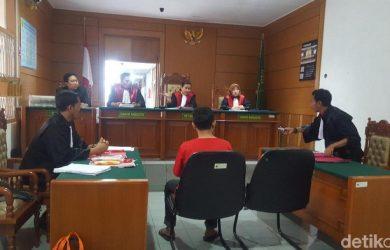 Ariyanto di persidangan di PN Kota Bogor (ist)