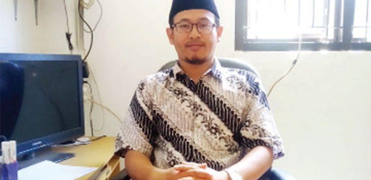 Kepala Bidang Administrasi Umum Baznas Kabupaten Sukabumi, M Kamaludin.