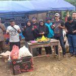 PWI Kota Bogor menggelar syukuran Hari Pers Nasional di Pengungsian Sukajaya (ist)
