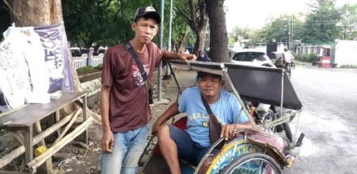 Penarik Becak di Cirebon./Foto: Rmol