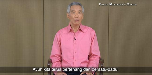 Perdana Menteri Singapura memberikan imbauan (ist)