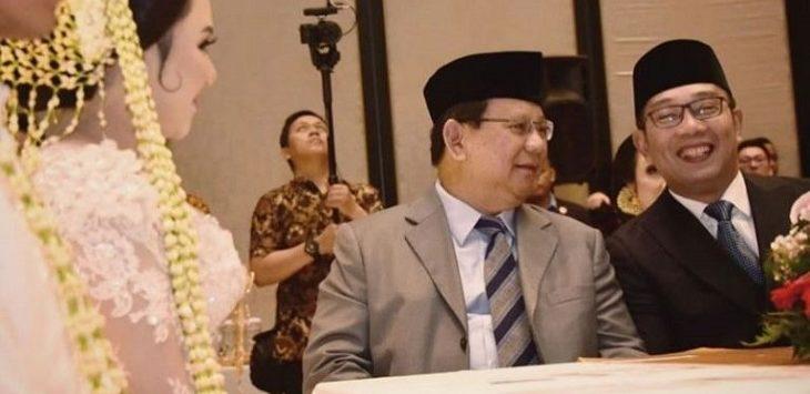 Ridwan Kamil dan Prabowo Subianto./Foto: istimewa