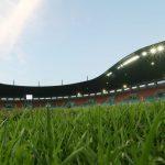Stadion Pakansari Cibinong yang belum memiliki masjid di sekitar stadion (cek)