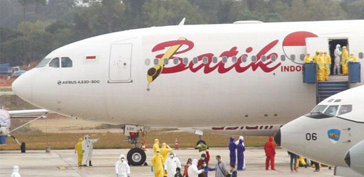 WNI dari Wuhan tiba di Bandara Hang Nadim Batam. Batam Pos