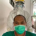 Kepala BKPSDM karawang, Asep Aang Rahmatullah (pakai masker)./Foto: Istimewa