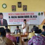 Reses anggota DPRD Jabar, Faizal Hafan Farid