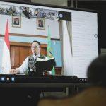 Teleconference Pemkot Bogor dengan Gubernur Jabar Ridwan Kamil