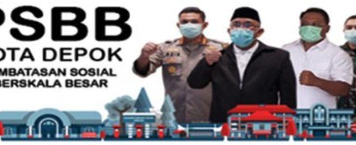 PSBB di Depok./Foto: Istimewa