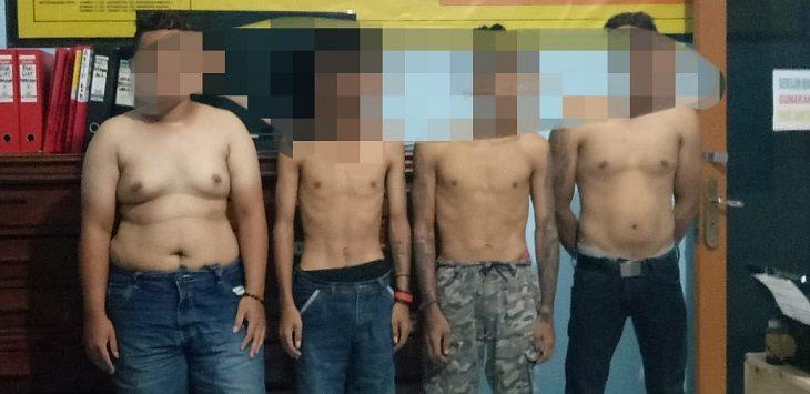Polres Majalengka ungkap 4 pemuda mabuk jelang sahur, Selasa (27/4/2020)./Foto: Istimewa