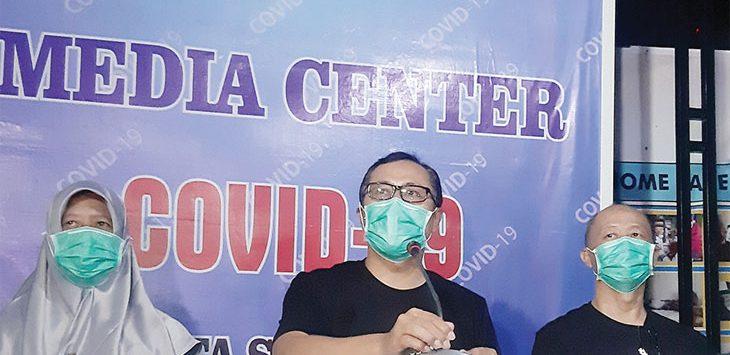 Walikota Sukabumi saat memberikan keterangan resmi tentang perkembangan Covid-19.