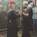 Habib Bahar Smith saat keluar dari Lapas Pondok Rajeg Cibinong (ist)