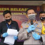 Polisi memaparkan kasus pemerkosaan yang dilakukan oknum guru pesantren di Bandung (arf)