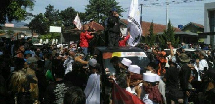 Demo menolak RUU HIP di Garut./Foto: Rmol