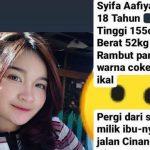 Gadis cantik asal Bandung yang sudah hilang satu pekan