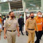 Gubernur DKI Jakarta Anies Baswedan bersama Walikota Bogor Bima Arya saat sidak ke Stasiun Bogor