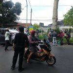 Pengemudi ojek online terkapar di Jalan Ahmad Yani Kota Bogor (ist)