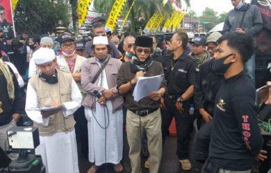 Aksi Forum Mujahid di Polres Kota Tasikmalaya