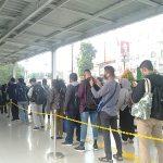 Antrean Stasiun Bogor pada Selasa 7 Juli siang (adi)