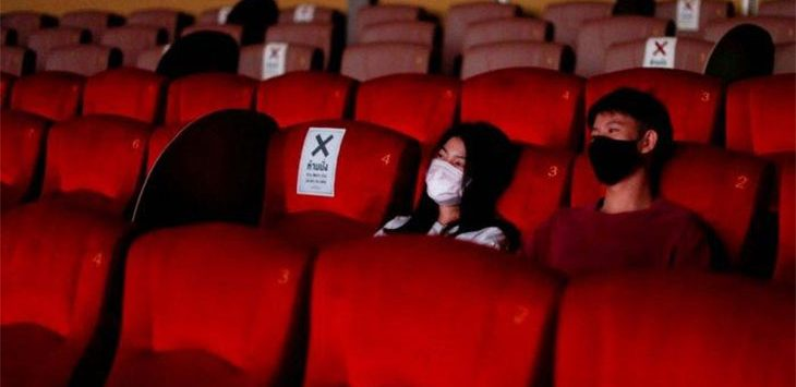 Ilustrasi bioskop di tengah pandemi covid-19.