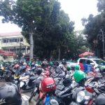 Demo driver ojol di Bandung