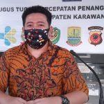 Juru bicara Gugus Tugas Percepatan Penanganan Covid-19 Kabupaten Karawang, dr. Fitra Hergyana