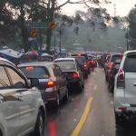 Kepadatan di jalur Puncak Bogor Minggu 12 Juli 2020 (instagram)