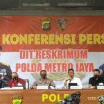 Konferensi pers polisi terkait tewasnya Editor Metro TV Yodi Prabowo (foto firdaus)