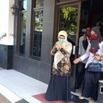 Mantan Bupati Indramayu Anna Sophanah diperiksa Kejari (ist)