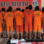 Para tersangka narkoba diamankan Polres Bogor