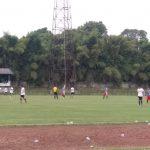 Salah satu pertandingan sepakbola di Stadion GOR Pajajaran Kota Bogor (adi)