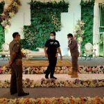 Simulasi resepsi pernikahan oleh Satpol PP Kota Bogor (adi)