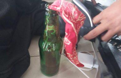 Bom molotov yang hendak diledakkan di gedung DPR RI Senayan Jakarta (ist)
