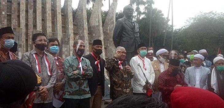 Deklarasi KAMI di Tugu Proklamasi, Jakarta Pusat, Selasa (18/8/2020)./Foto: Mufit