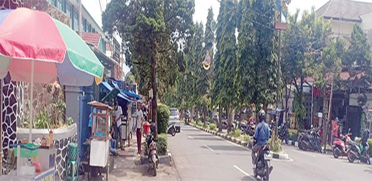 Jalan IR H Djuanda yang digadanggadang akan seperti pendestrian di Kota Bandung.