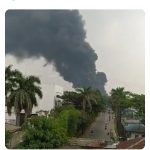Kebakaran di Kawasan Industri Sentul Bogor (ist)