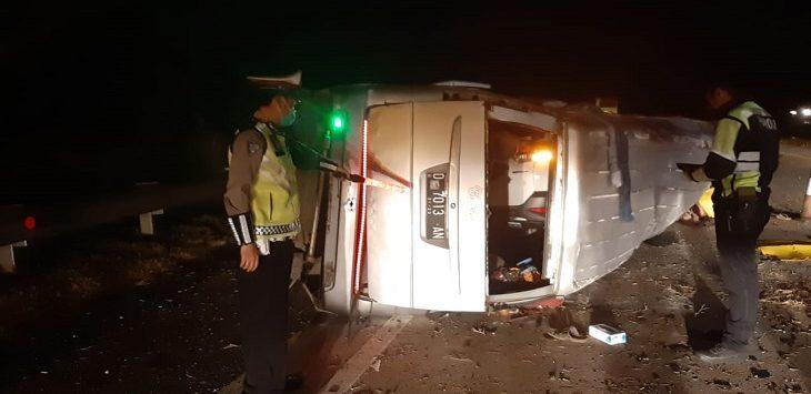 Kecelakaan di Tol Cipali, Senin (10/8/2020)./Foto: Istimewa