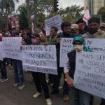 Peserta Aksi di Gedung DPRD Ciamis