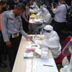 Ratusan personel Dishub Kota Bogor jalani rapid test Corona (adi)