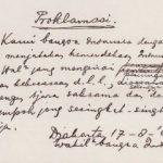 Teks Proklamasi asli yang ditulis tangan Soekarno (ist)