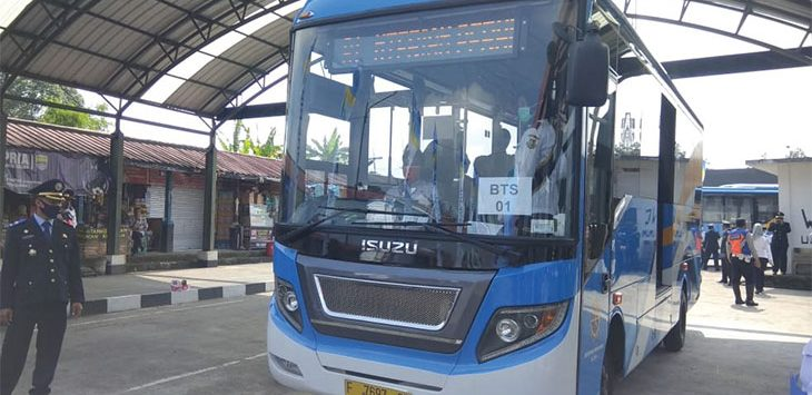 Bus Rapid Transit (BRT) akhirnya dioperasikan oleh Dinas Perhubungan Kota Sukabumi.